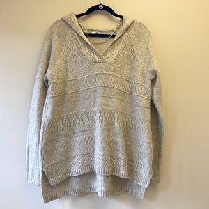 Super soft creamy beige hooded sweater- XL
